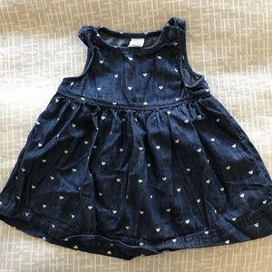 Denim babydoll dress